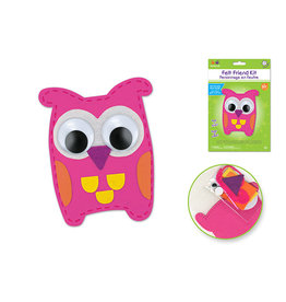 MultiCraft Krafty Kids Kit: DIY Felt Friends Sewing Kit w/Plastic Needle Ewl