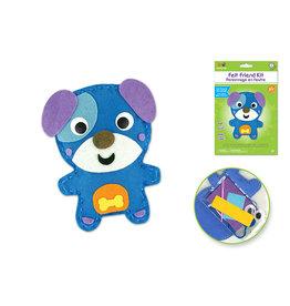 MultiCraft Krafty Kids Kit: DIY Felt Friends Sewing Kit w/Plastic Needle) Dog