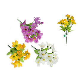 "Enchanted Garden: 12.5"" Freesia Bush x10 Head + 5 Bud Asst 3styles"