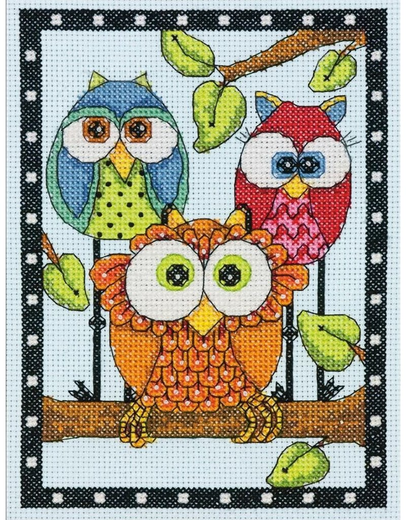 Dimensions Cross Stitch Kit - Owl Trio