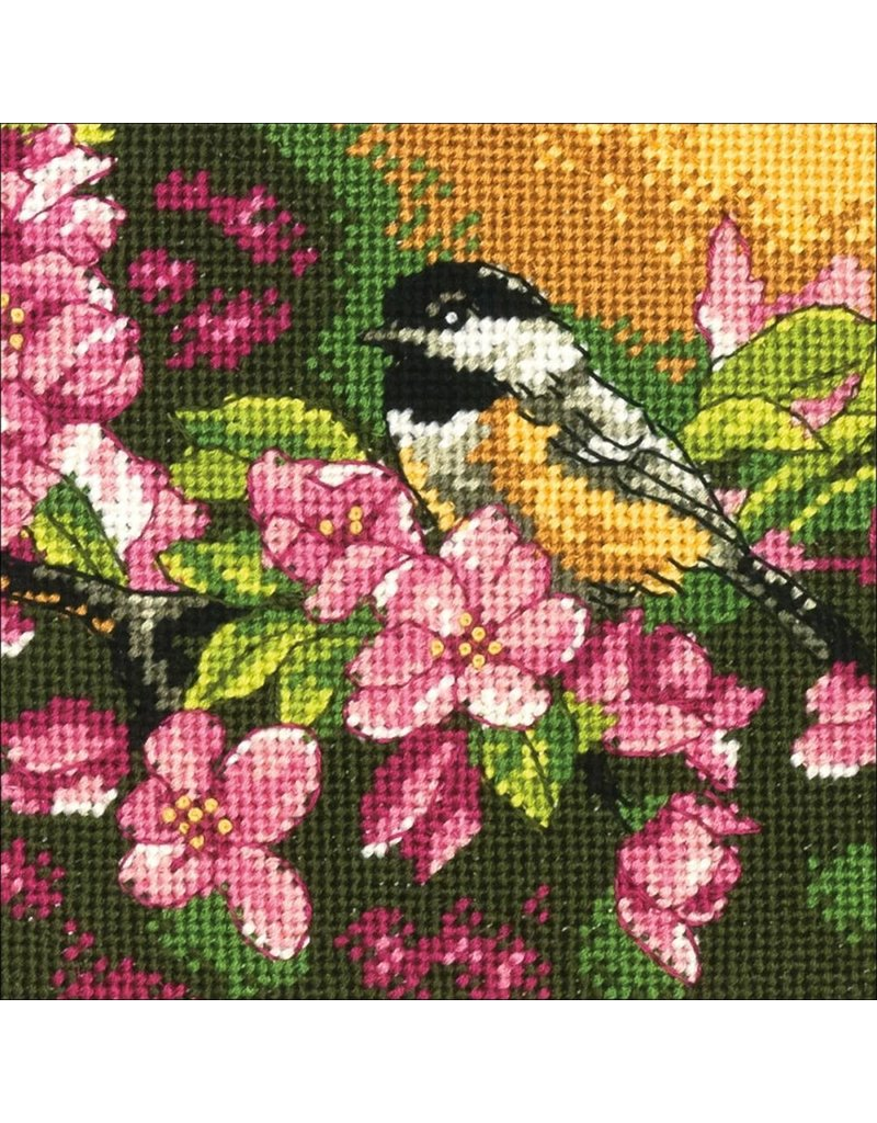 Dimensions Needlepoint Kit - Chickadee in Pink