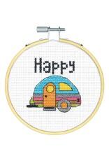 Dimensions Cross Stitch Kit - Happy Camper