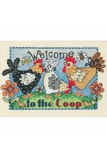 Dimensions Stamped Cross Stitch Kit - Welcome to the Coop