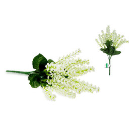 "Enchanted Garden Filler: 10.5"" Astilbe Bush x5 (20 Sprigs) A) White"