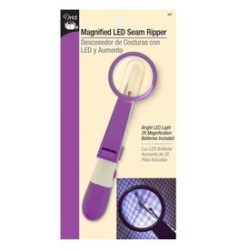 Dritz Magnified LED Seam Ripper, Bright LED Light (3X Magnification), Batteries Included
