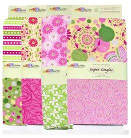 "Coordinating Prints Fabric (2pcs) - Flutterby - 90cm x 1m (36"" x 42"")"