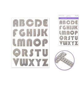 """1"""" Hot-Font Bling - Groovy Silver Letters"""