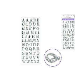"3.37""x7.87"" Gemmed Glitter Letters - Silver"