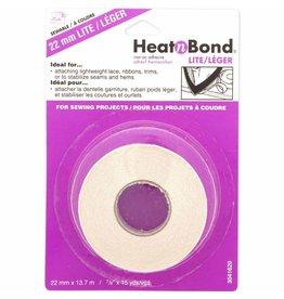 "HEATNBOND Lite Iron-On Adhesive Tape - 22mm x 13.7m (7/8"" x 15yds)"