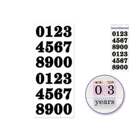 """5""""x12"""" Letters & Numbers Medley Clear -Numbers Bold Black 1.37"""""""
