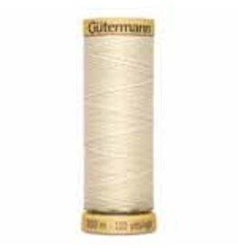 GUTERMANN Cotton 50wt Thread 100m - 1240 Ecru