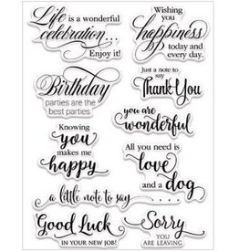 Clear Stamp, Sentiment Collection