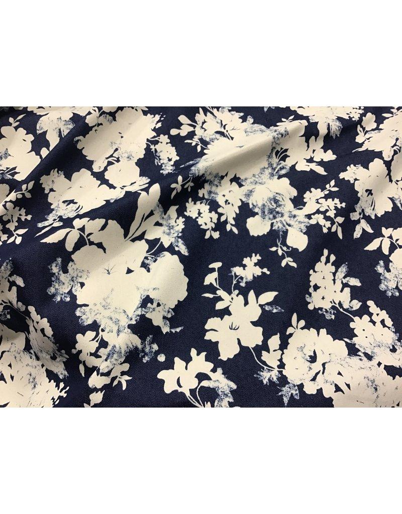 Denim Print floral price per inch