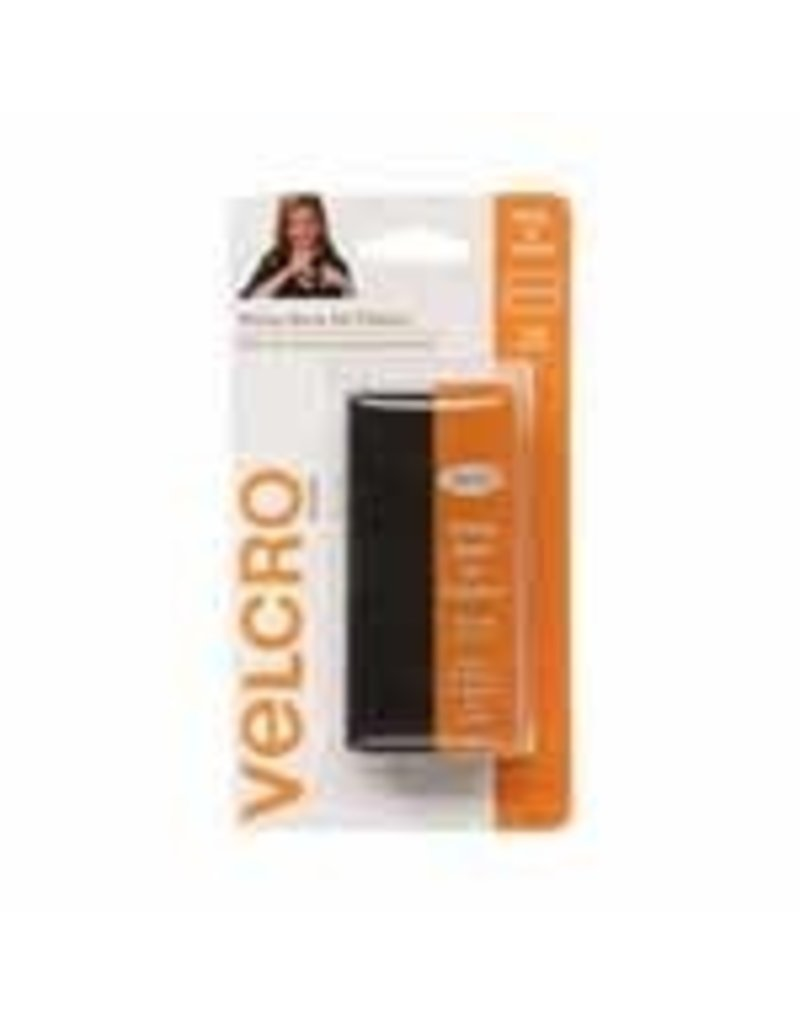 VELCRO Sticky Back for Fabrics Strip Black - 10 x 15cm (4″ x 6″)