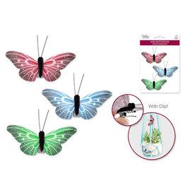 """2.62"""" Mini Butterflies x3 w/Clip -Glam"""