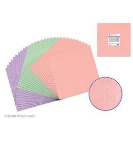 """12""""x12"""" Textured Cardstock - Pastel"""