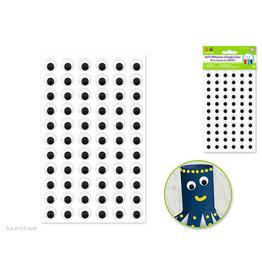 Self-Stick Googly Eyes: 10mm x 66pc -Black