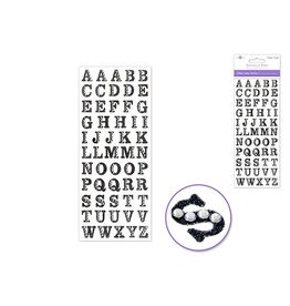 """3.37""""x7.87"""" Gemmed Glitter Letters - Black"""
