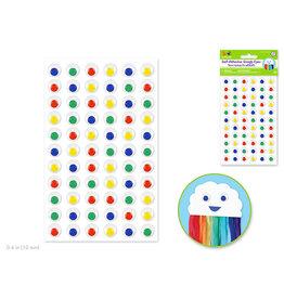 Self-Stick Googly Eyes: 10mm x 66pc -Asst Colors