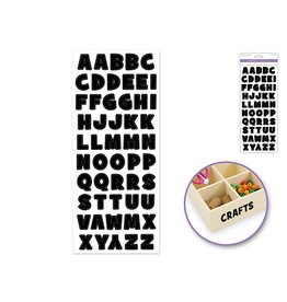 """5""""x12"""" Letters & Numbers Medley Clear - Letters Black Bold"""