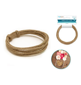 MultiCraft Craft Medley: 3mmx3m (6-ply) Wired Jute Cord/Garland A) Natural