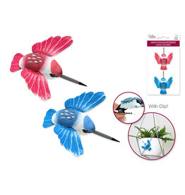 "1.81"" Mini Hummingbird x2 w/Clip -Pink/Blue"