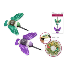 "1.81"" Mini Hummingbird x2 w/Clip - Green/Violet"