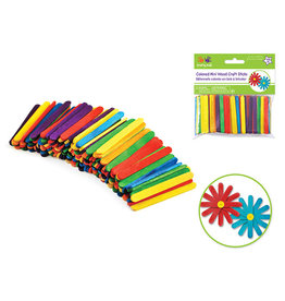 "2 1/8""x1/4"" Mini Colored Craft Sticks 150/pk"