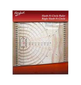 KOMFORT KUT Slash-N-Circle Quilting Ruler - 97⁄8 x 121⁄2″