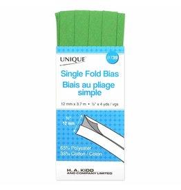 UNIQUE Single Fold Bias Tape 13mm x 3.7m - Lime Green