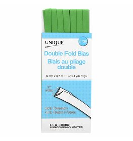 UNIQUE Double Fold Bias Tape 7mm x 3.7m - Lime Green