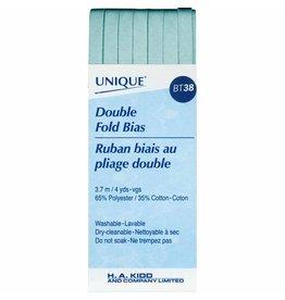 Hakidd UNIQUE Double Fold Bias Tape 7mm x 3.7m - Turquoise