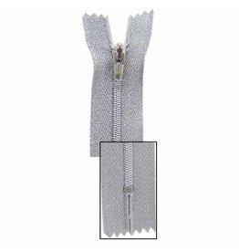 VIZZY Metallic Closed End Zipper 18cm (7″) - Metallic Silver - 1724