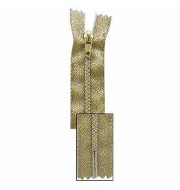 VIZZY Metallic Closed End Zipper 18cm (7″) - Metallic Gold - 1724