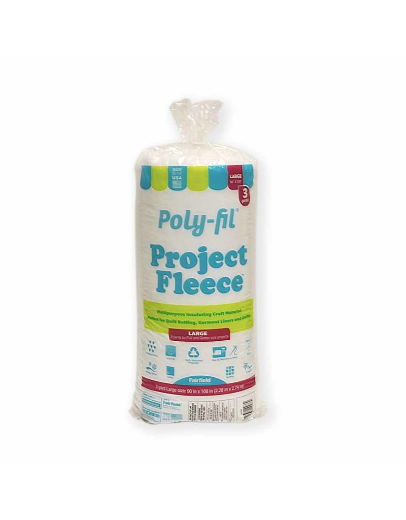 FAIRFIELD Poly-Fil® Project FleeceTM Batting - 229 x 274cm (90″ x 108″)