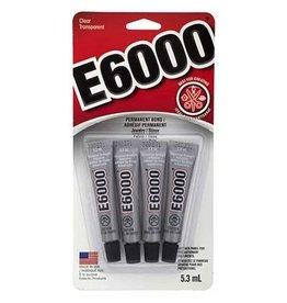 GLUE E-6000 CLEAR Mini 5.3ml Tubes 4 pcs per Header
