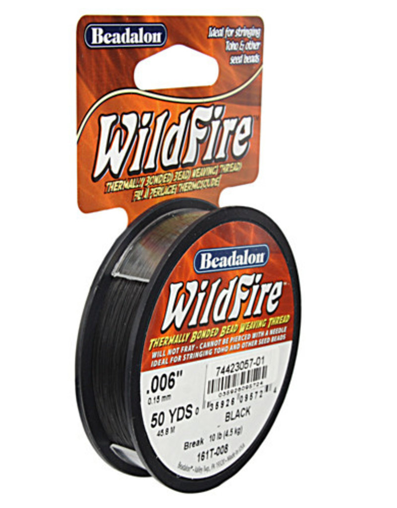 Beadalon - Wildfire .006in/ .15mm Black 50yd (45m)