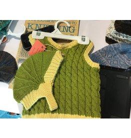 Kim Lantz Kim Green & yellow vest with hat