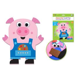 DIY Foam Friends Craft Kit Peel-n-Stick - R) Pig