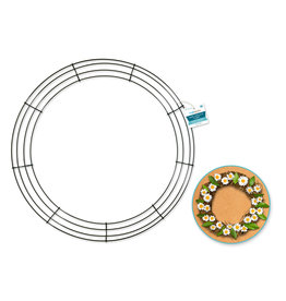 """MultiCraft Wire Wreath: 18"""" Green 4-Ring"""