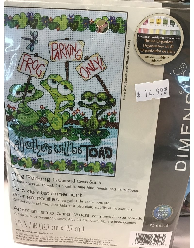 Dimensions Needlepoint - Frog Parking