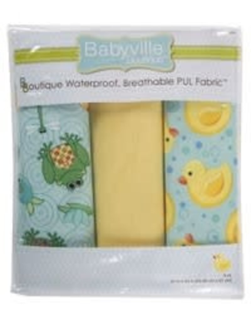 """Babyville Boutique Pul Fabric Packaged 21""""X24"""" Cuts - Playful Ponds"""