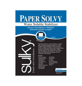 SULKY Paper Solvy - White - 21.5 x 28cm (81⁄2″ x 11″) - 12 sheets