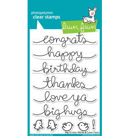 Treasuremart Photopolymer clear stamps set- Big Scripty words
