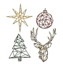 Tim Holtz Thinlits Die Set, Geo Christmas
