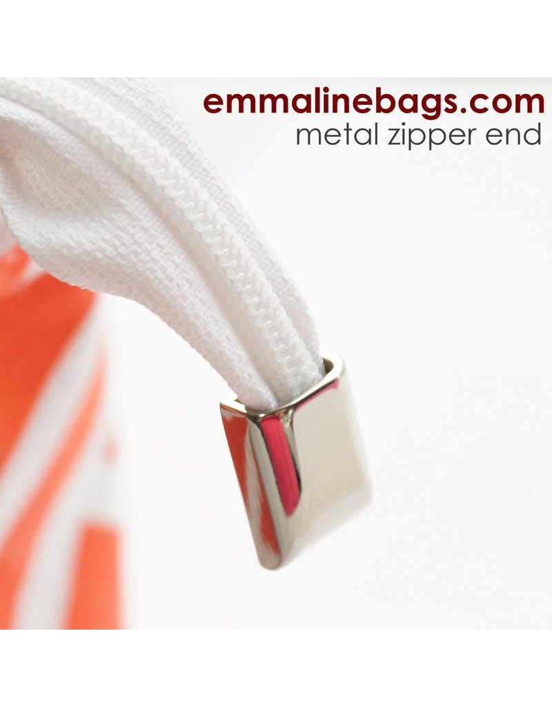 Emmaline Bags Zipper Ends or Cord Ends: in Nickel - 5 Pack