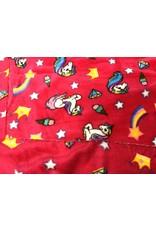 Fleece Flannel 2 sided Unicorn Fuchsia  100% Polyester