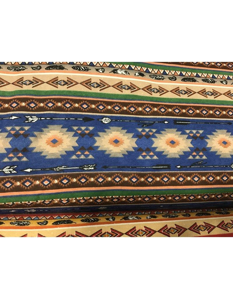 Flannel Southwest Stripe Navy 100% Cotton