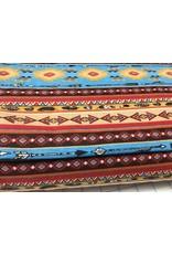 Flannel Southwest Stripe Aqua 100% Cotton