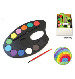 "Krafty Kids: 9.84""x6.65"" Lil' Artist Watercolor Palette 12 Color"